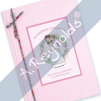Libro Comunión Premium Rosa