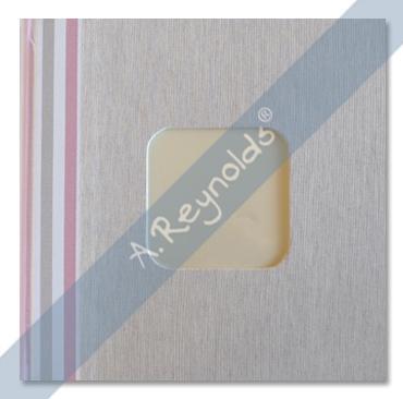 Álbum Fotos XL Rayas Colores Rosas (30x30)