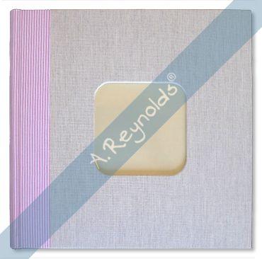 Álbum Fotos XL Beige Rayas Rosas (30x30)