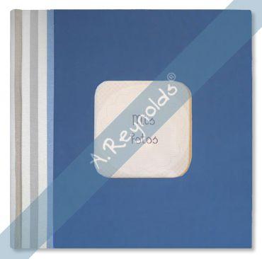 Álbum Fotos XL Marino Rayas Colores Azules (30x30)
