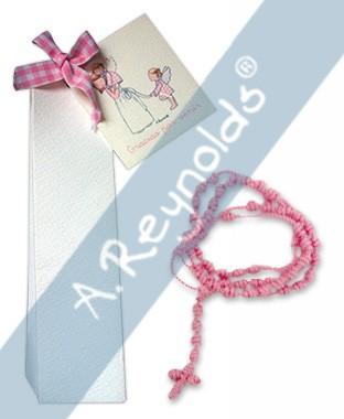 Cajita (3,5x14) con Rosario azul o rosa